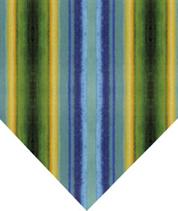 Blue & Green Vertical Stripe Silk Tie