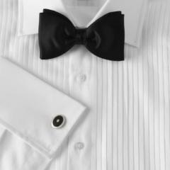 Prince Of Wales Collar White Pleated Evening Shirt