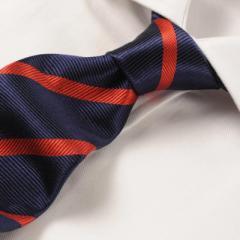 Navy Red Herringbone Stripe - 21764