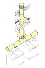 Commercial gas vent system