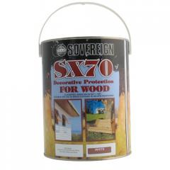 Solvent based decorative and protective coating