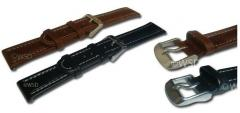 Triple Padded Oiled Leather Watch Strap