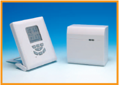 Radio frequency programmable room thermostats