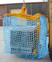 Self-Balancing Crane Forks with Safety Net