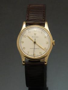 Rolex precision 1950s 9ct gold Watch