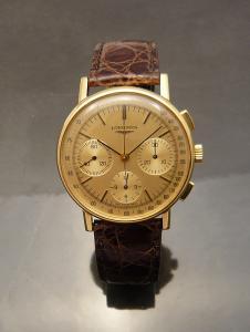 Chronograph Longines 18ct gold Watch