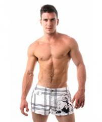 Emporio Armani Mens Check Swim Shorts