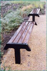 FSC timber and galvanised steel bench