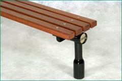 FSC timber and galvanised steel bench without arms