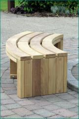 Curved FSC timber outdoor bench