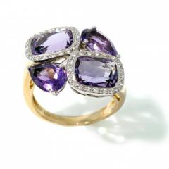 Isabelle Langlois Amethyst Meadow Ring