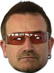 Bono U2 cardboard face mask