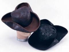 Brown distressed pirate hat