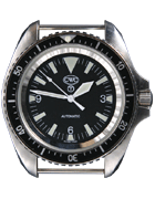 Cabot Watch Company Royal Navy divers automatic watch silver without date