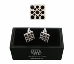 Green and Jack's The Sixties Black Round Men's Cufflinks