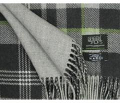 Green and Jack's Black, Dim Grey And Lime Check Scarf