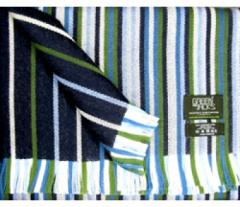 Green and Jack's Double Side Mix Blue And Green Striped Scarf