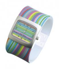 Retro Wavy Stripe Watch
