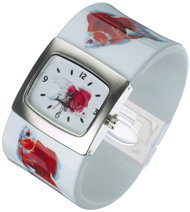Two Goldfish Bangle watch