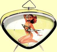 Pin Up Girl Clock