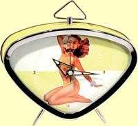 Pin Up Girl Clock