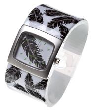 Black Feather Bangle Watch