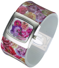 Multi flower Bangle Watch