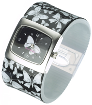 White Butterfly Bangle Watch
