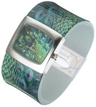 A Peacock Bangle Watch