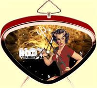Hot And Dangerous Clock