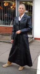 Long Ladies Leather Coat