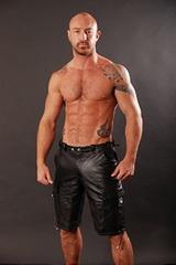 Leather Combat Shorts