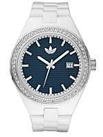 Adidas white Cambridge with glitz silver coloured watch