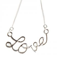 Icon Feel The Love Necklace Silver