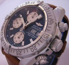 Breitling SuperOcean Chronograph watch, Blue Dial