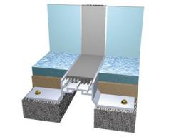 Recessed Modular Floor System with Coloured Seals