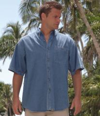 Front Row Short Sleeve Denim Shirt