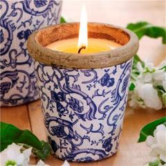 St Eval Floral Pots Seasonal Candle