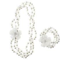 Butler & Wilson Heart Flower 45cm Necklace