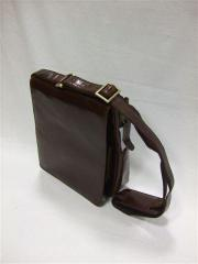 Large Messenger Style Leather Man Bag