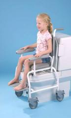 T90 WC is a paediatric shower chair