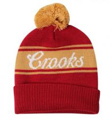 Crooks And Castles Mens Indian Color Block Beanie