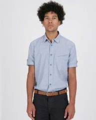 Short Sleeve Slanted Pocket Shirt