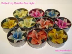 Dotted Lily Tea Lights
