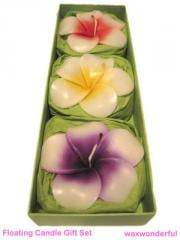 Green Floating Candles Gift Set