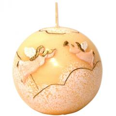 Cherubins Ecru Christmas Ball Candle