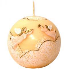 Cherubins Ecru Christmas Ball Candle