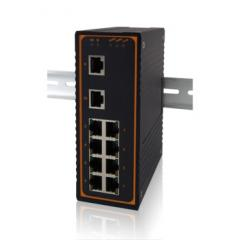 Atop 10 port unmanaged Ethernet switches rail