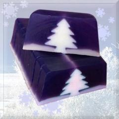 Handmade Christmas Tree Soap