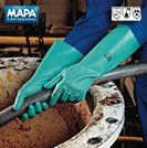 Gloves, MAPA 493 Ultranitril Nitrile rubber